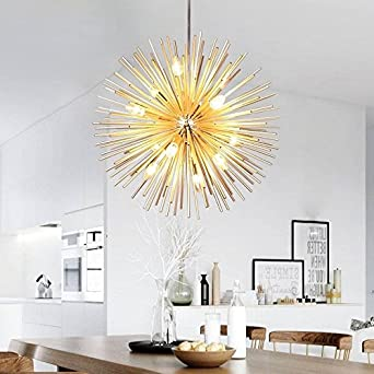 Golden Sputnik Chandelier Ceiling Light Lamp Pendant Lighting Fixture E14 Light
