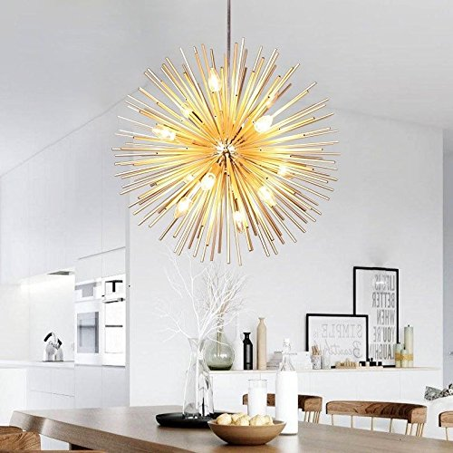 (Golden Sputnik Chandelier Ceiling Light Lamp Pendant Lighting Fixture E14 Light)