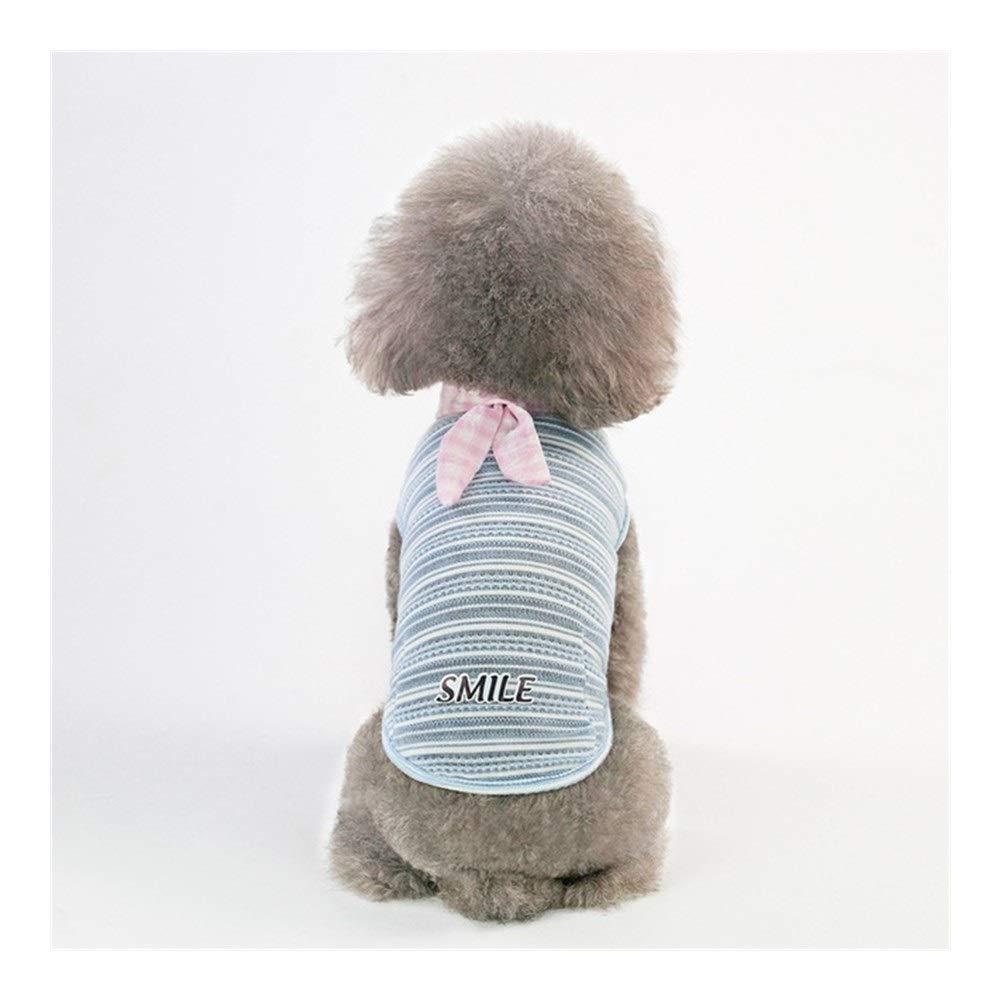 LovelyPet Summer and Spring Pet Striped Vest Puppy Shirt Dog Clothes Cat Vest (Color : B, Size : S)