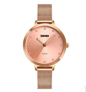 ChenHui Nueva Simplicidad de Europeo y Americano Relojes Moda Tendencia Malla Impermeable cinturón señora Cuarzo Tabla: Amazon.es: Jardín
