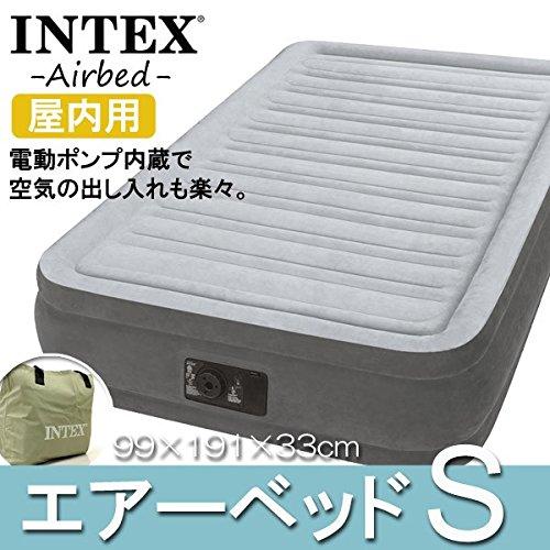 INTEX ( インテックス ) エアーベッド シングル 国内正規品 90日保証付 電動 airbed ツインコンフォートプラッシュ 高さ33cm 来客用 防災 B07C3573NH