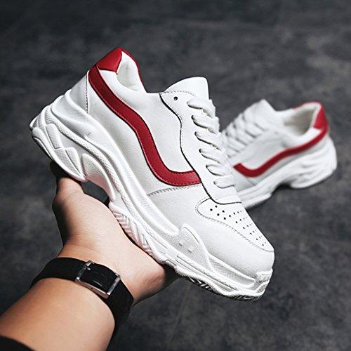Damenschuhe Weiß Damenschuhe 39 größe Wild White Sportschuhe red Casual Bottom Thick HWF Schuhe Farbe 4Z5qUxSww