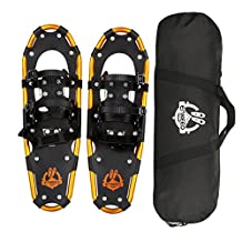 """ENKEEO Light Weight Aluminum Snowshoes Kit with Carry Bag, Adjustable Ratchet Bindings,18""""/21''/25''/30''"""