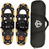 """ENKEEO All Terrain Snowshoes Lightweight Aluminum Alloy with Carry Bag and Adjustable Ratchet Bindings, 80/120/160/210 lbs. Capacity, 18""""/21""""/25""""/30"""""""