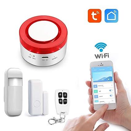 aixi-SHS Wi-Fi 433Mhz Sirena estroboscópica Seguridad ...