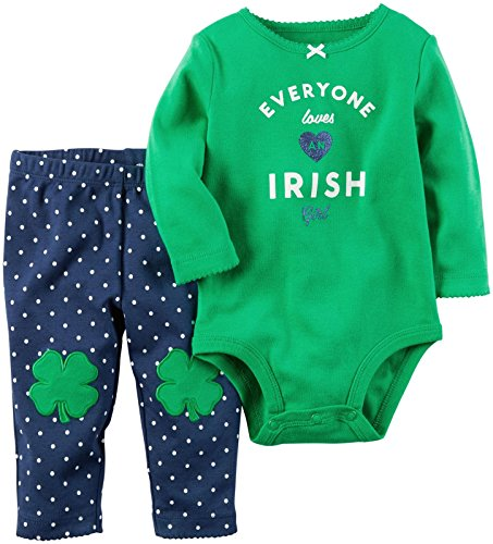 [Carter's Baby Girls 2 Pc Sets 119g167, Green, 24M] (Baby St Patricks Day Clothing)