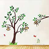Infinity Wall Art Animal Friends Jungle Safari Nursery Mega Wall Art Sticker - PD401/Direction A (Small)
