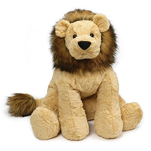 "GUND 4059976 Cozys Collection Lion Jumbo Stuffed Animal Plush, 20"", Tan"