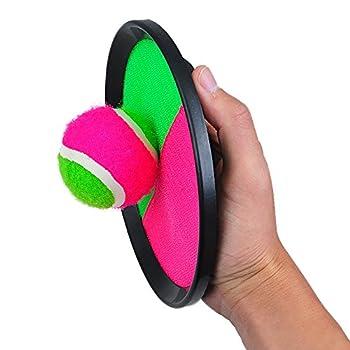 Pevor Paddle Tennis Toy Ball Toss & Catch Sports Ball Throw Catch Bat Ball Game Set 5