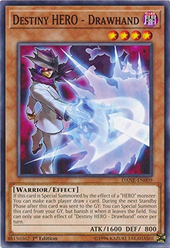 Destiny HERO Drawhand DANE-EN009 Common Yu-Gi-Oh Card 1st Edition New