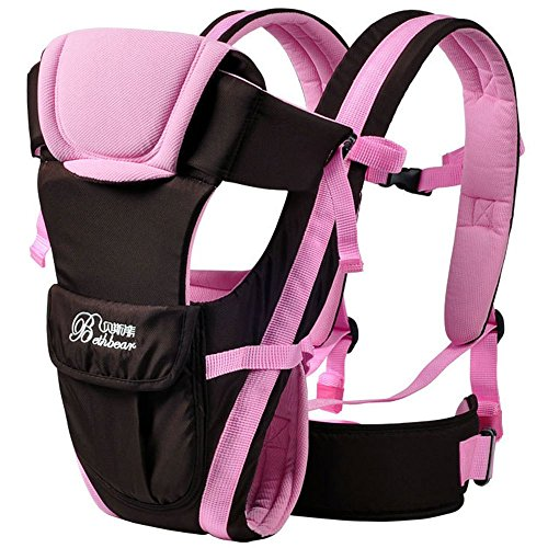 Baby Carrier Multifunctional Backpack Sling (Pink) - 3