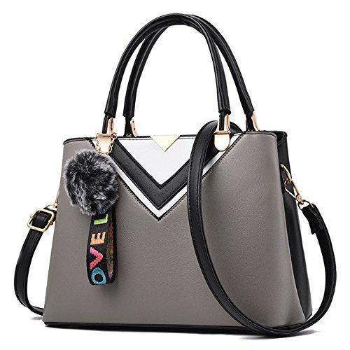 Tote and Purses Bags Handbags Shoulder Womens Bag Ladies Grey qawYnxT