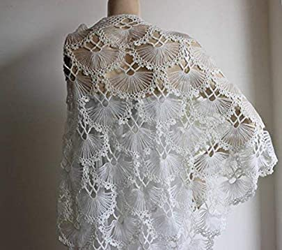 Winter Wedding Ivory Lace Shawl -Evening Shawls Wraps Shrugs Jackets for  dresses Formal-Wool Cloak-Bridal Accessories for the bride-Bridesmaid