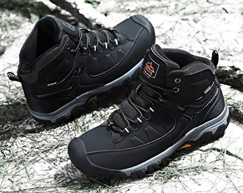 AX BOXING Bottes Homme Hiver Bottines Randonnée Trekking Chaudes Fourrées Chaussures Taille 41-46 6