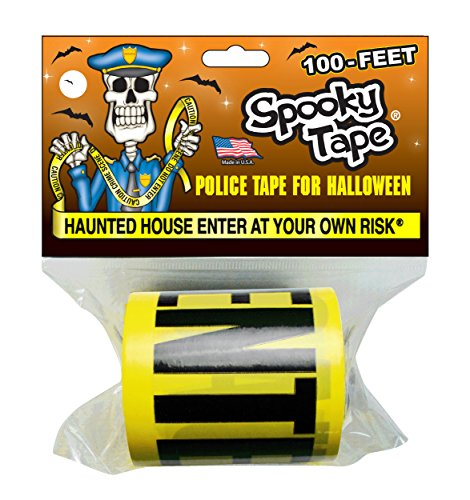 Spooky Tape - HAUNTED HOUSE ENTER AT YOUR OWN RISK - 100 Feet!