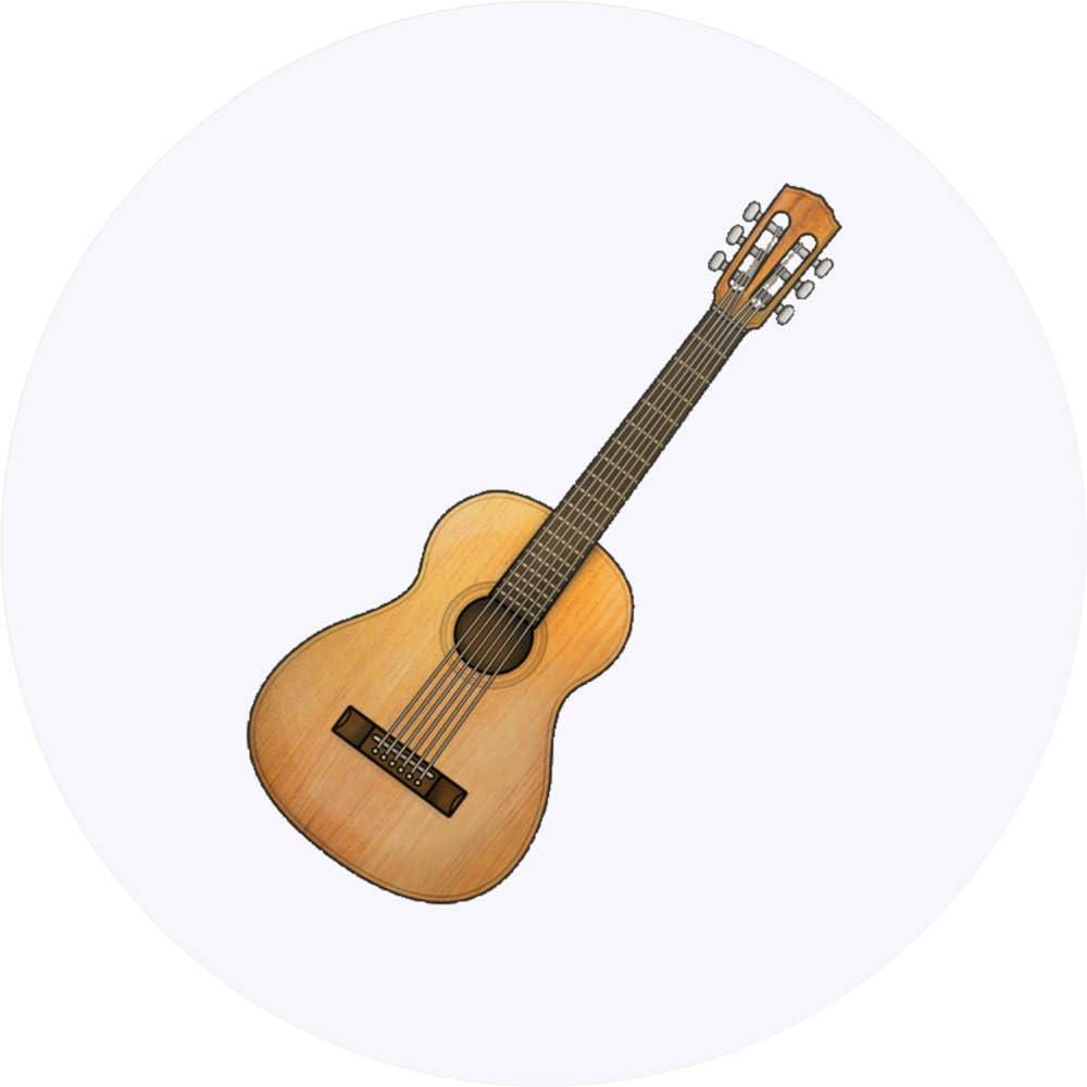 Azeeda 24 x 40mm Redondas Guitarra Acustica Pegatinas ...