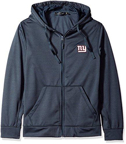 Dunbrooke Apparel NFL New York Giants adult Trophy Polyester Tech Fleece Full Zip Hoodie, Large, Navy ()