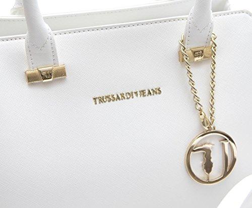 Trussardi Borsa Donna Levanto ecosaffiano tote Bag White