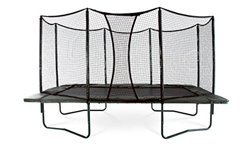 PowerBounce Rectangular Trampoline Integrated Enclosure