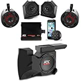 MTX Polaris RZR Remote Control Bluetooth Receiver All Weather Kit w Custom Dash and Roll Bar Speakers