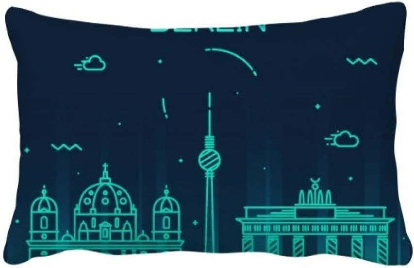 Diythinker Germany Berlin Landmark Architecture Throw Lumbar Pillow Insert Cushion Cover Home Sofa Decor Gift Amazon Co Uk Kitchen Home