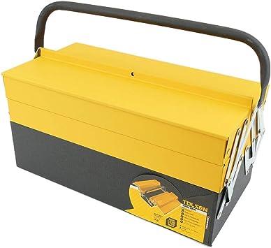 Cablematic - Caja de herramientas de metal 400x200x195mm de Tolsen: Amazon.es: Electrónica