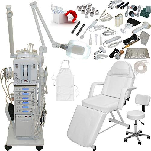 22 in 1 Elite Series Multifunction Diamond Microdermabrasion Facial Machine & Adjustable Stationary Bed Table Chair Salon Spa Beauty Equipment