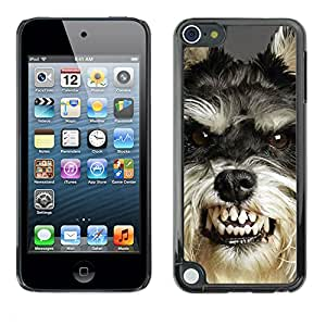 Paccase / SLIM PC / Aliminium Casa Carcasa Funda Case Cover - Angry Dog Teeth Cairn Terrier Pet - Apple iPod Touch 5