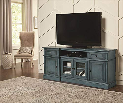 72 in. Console in Distressed Aged Blue