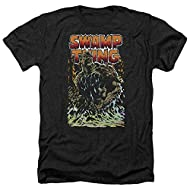 Swamp Thing Rising Black Heather Soft Fit T-shirt