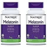 Natrol Melatonin Time Release Tablets, 1mg, 90 Count (Pack of 2)
