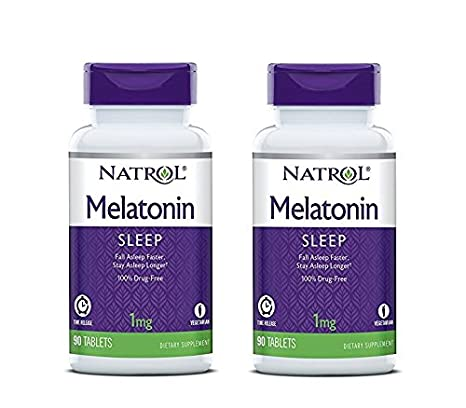 Amazon.com: Natrol Melatonin Time Release Tablets, 1mg, 90 Count (Pack of 3): Health & Personal Care