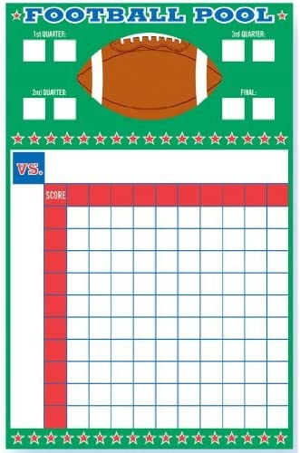 Amscan 279856 Football Pool Ribbons Game Multicolor One Size