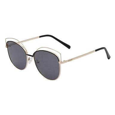 4ee386d371e JOJEN Semi Rimless Cateye Polarized Sunglasses for Women Metal TR90 Frame  JE015(Black Frame Gradually Grey