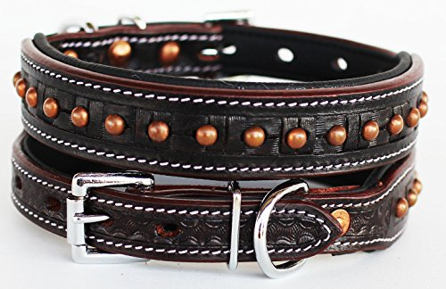 PRORIDER Small 13''- 17'' Rhinestone Dog Puppy Collar Crystal Cow Leather 6017