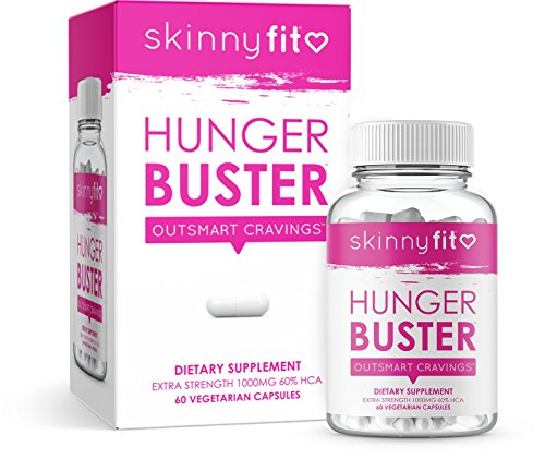 SkinnyFit Hunger Buster Metabolism Booster: 1 month supply (60 capsules of Garcinia Cambogia)