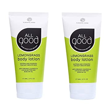 818f4ed40dd All Good Body Lotion w/Essential Oils - Moisturizing Organic Calendula,  Cocoa Butter,