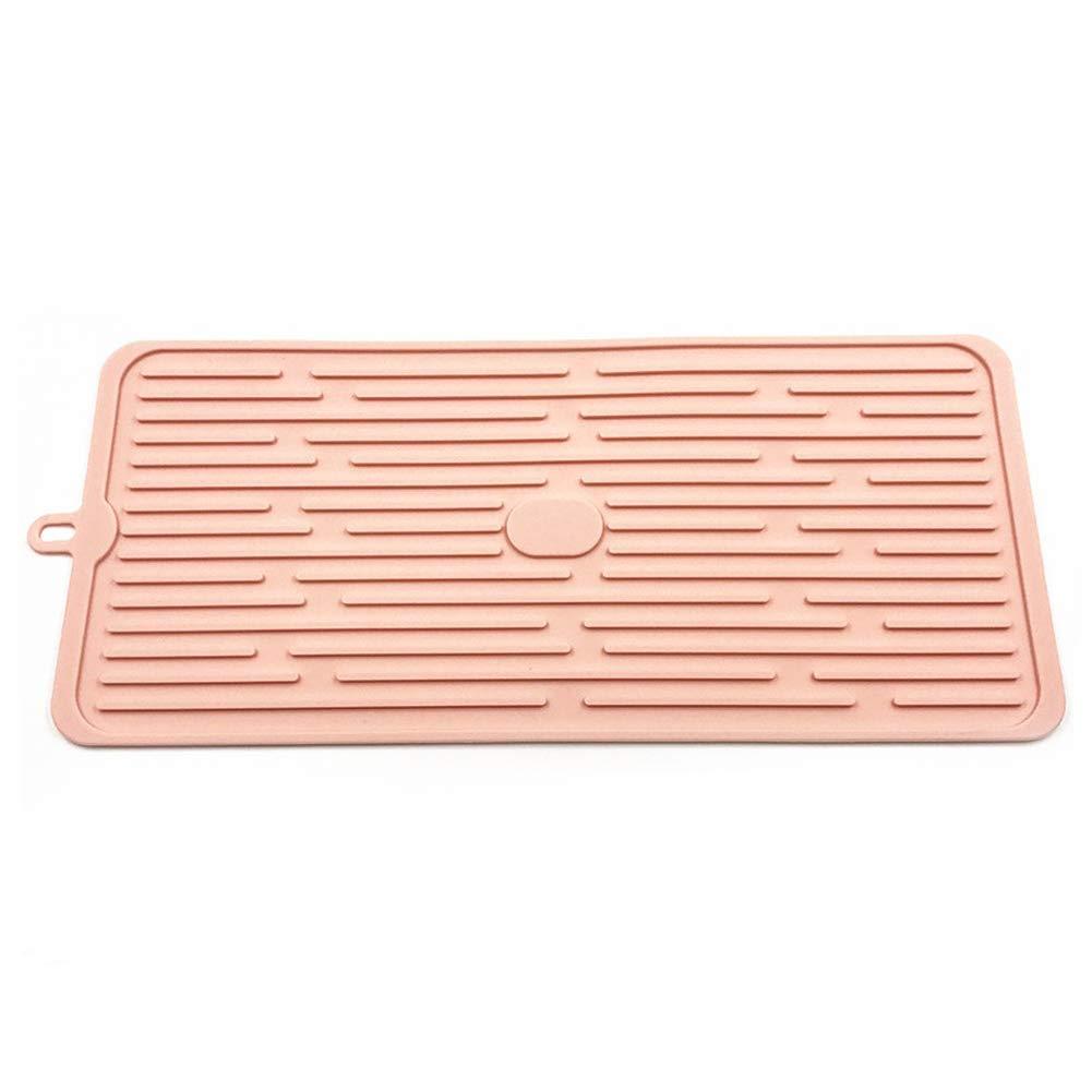 Estante organizador de secado de platos escurreplatos bandeja plegable de silicona soporte de almacenamiento multifunci/ón fregadero cocina port/átil cubiertos tazas Tama/ño libre gris