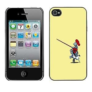 Be Good Phone Accessory // Dura Cáscara cubierta Protectora Caso Carcasa Funda de Protección para Apple Iphone 4 / 4S // Funny Toy Horse Knight