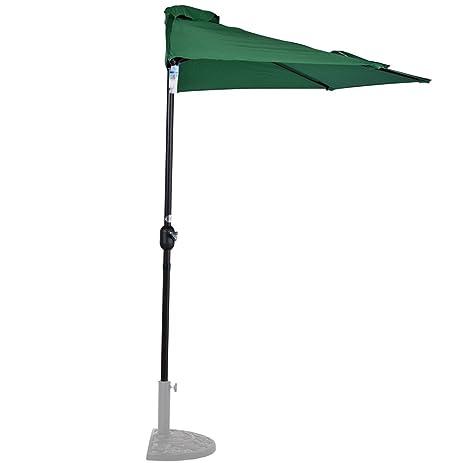 amazon com sundale outdoor 9 feet steel half patio umbrella with
