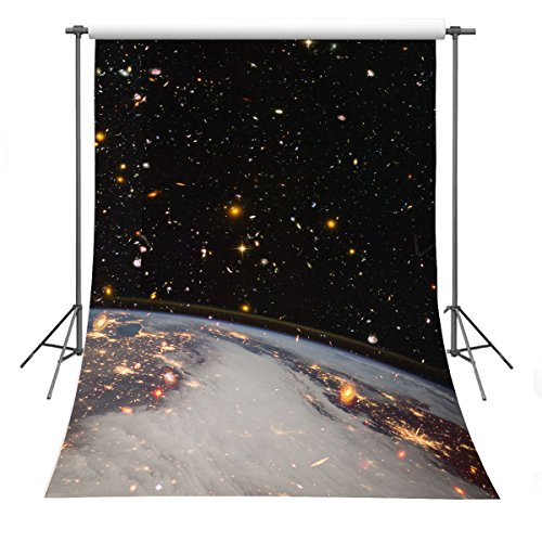 Theme Backdrop (FUERMOR Space Background 5x7ft Universe Flashing Stars Backdrop Studio Photography Props RQ029)