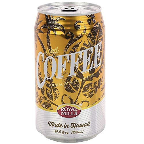 Royal Mills Iced Coffee Drink, Coffee Drink Made In Hawaii, Ready to Drink - 11 Fl Oz   Pack of 24
