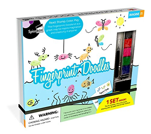 SpiceBox Fingerprint Doodles Art Kit