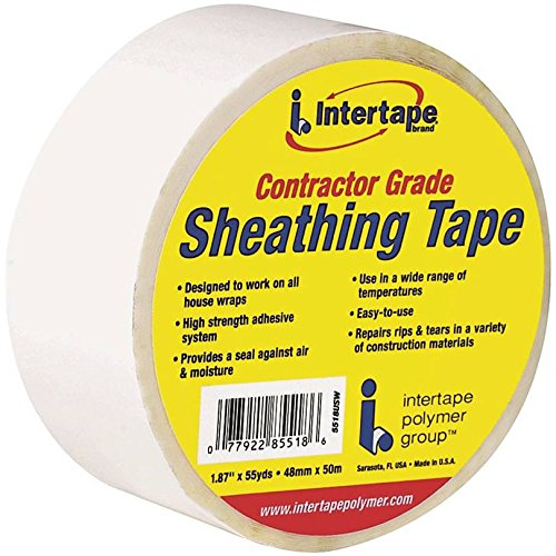 Intertape 85518 12 Pack 1.88in x 54.6yds Sheathing Tape, White
