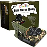 Target Alarm Clock with Gun - Infrared Target and Realistic Loud Sound Effects