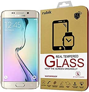 For Samsung Galaxy S6 Edge - Rubik Full Curved 3D Tempered Glass Screen Protector For Samsung Galaxy S6 Edge - Black