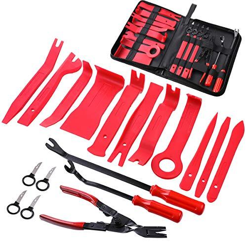 MATCC Car Panel Removal Tools Kit 18pcs Trim Removal Tool Set Nylon for Car Panel Dash Audio Radio Removal Installer and Repair Pry Tool Kits with Storage Bag
