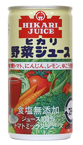 Light food organic tomato, carrot, Yuko will use vegetable juice salt additive-free 190gX30 this by Light food
