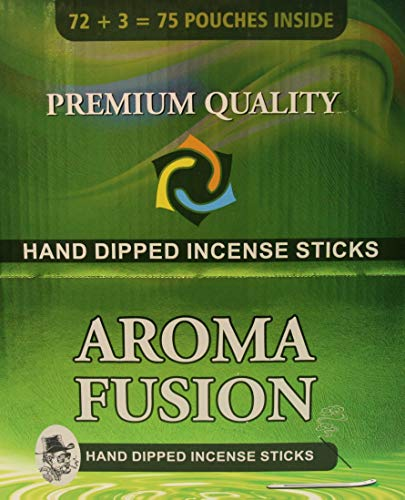 - Aroma Fusion Premium Quality Hand-Dipped Incense Sticks | 75 Variety Pouches | 1,125 Total Sticks | 20 Different Scents | Incense Display Case