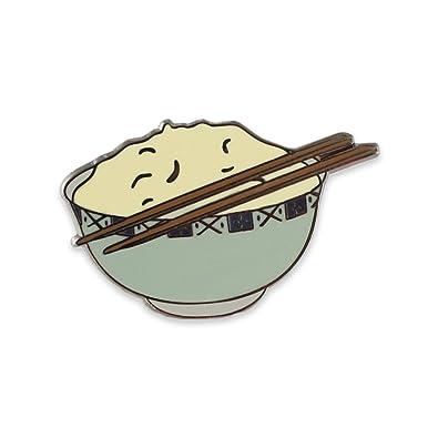 Amazon com: Rice Bowl With Chopsticks Hard Enamel Nickel